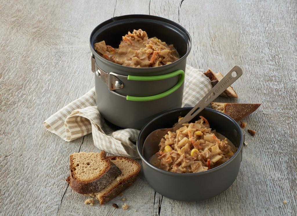 po l e de pommes terre aux oignons trek n eat plat cuisin lyophilis s. Black Bedroom Furniture Sets. Home Design Ideas