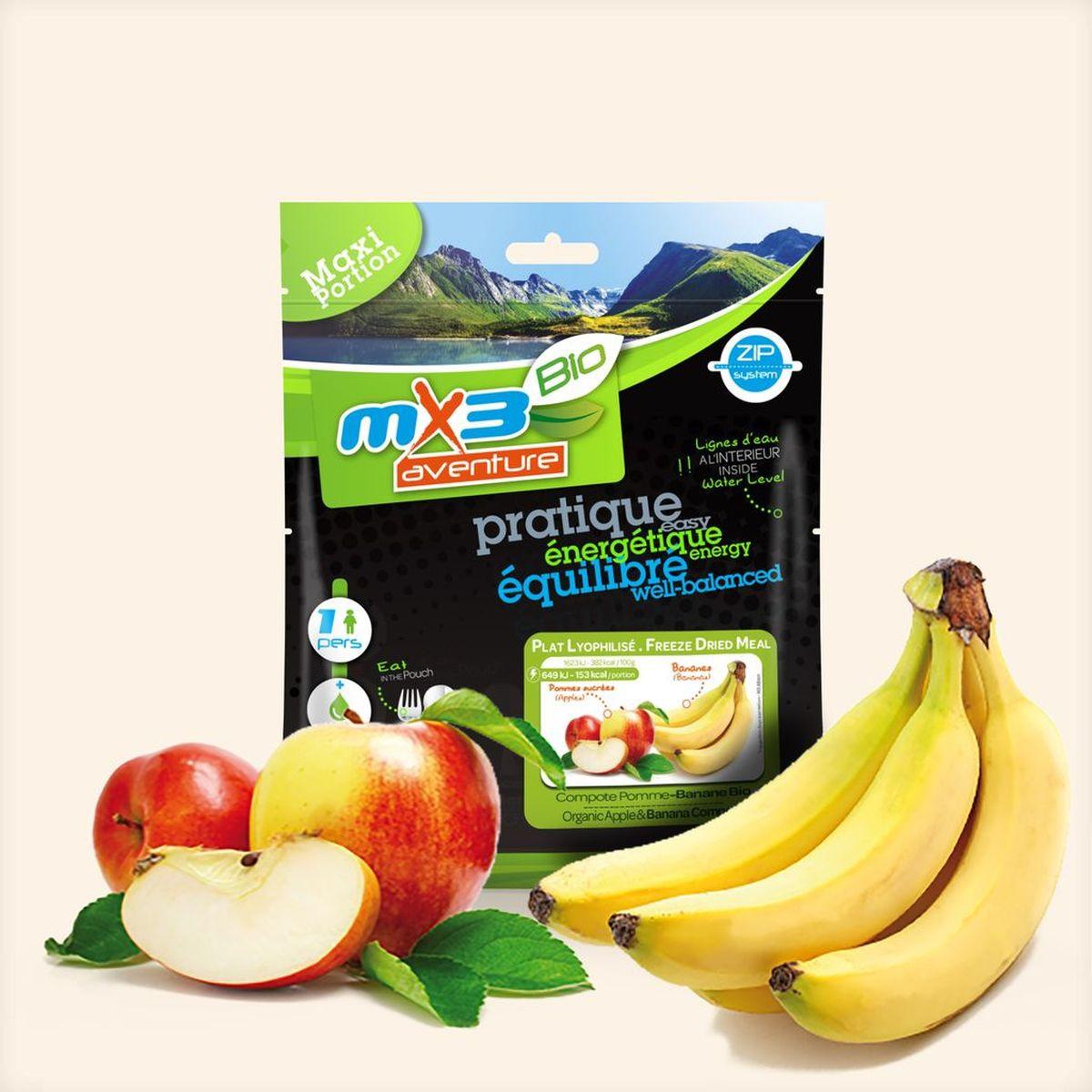 Lyophilisé Compote Pommes Bananes Bio - MX3