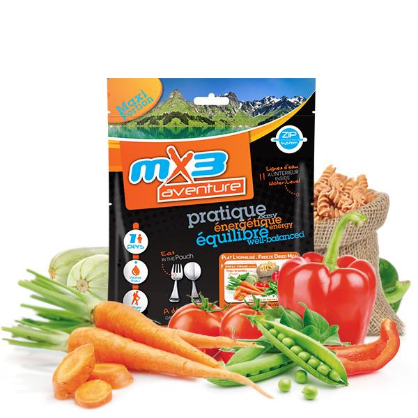 Pâtes végétariennes aux petits légumes - MX3