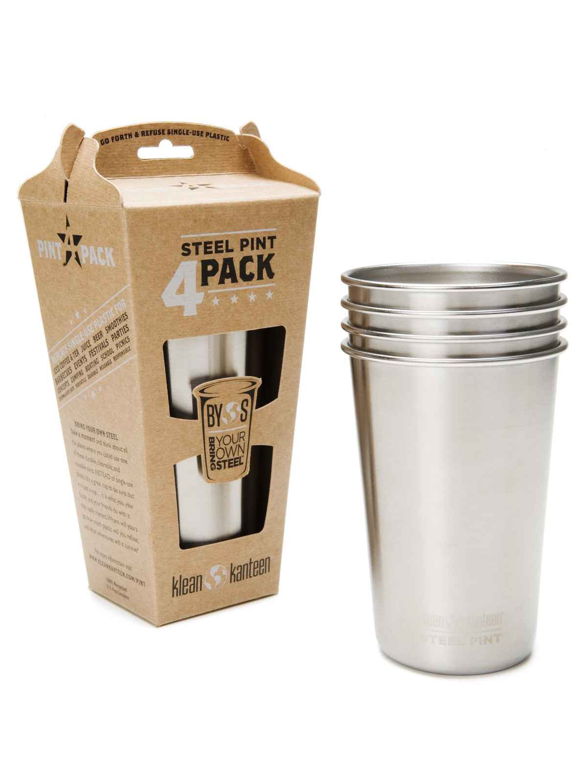 Klean Kanteen Steel Pint 4 Pack