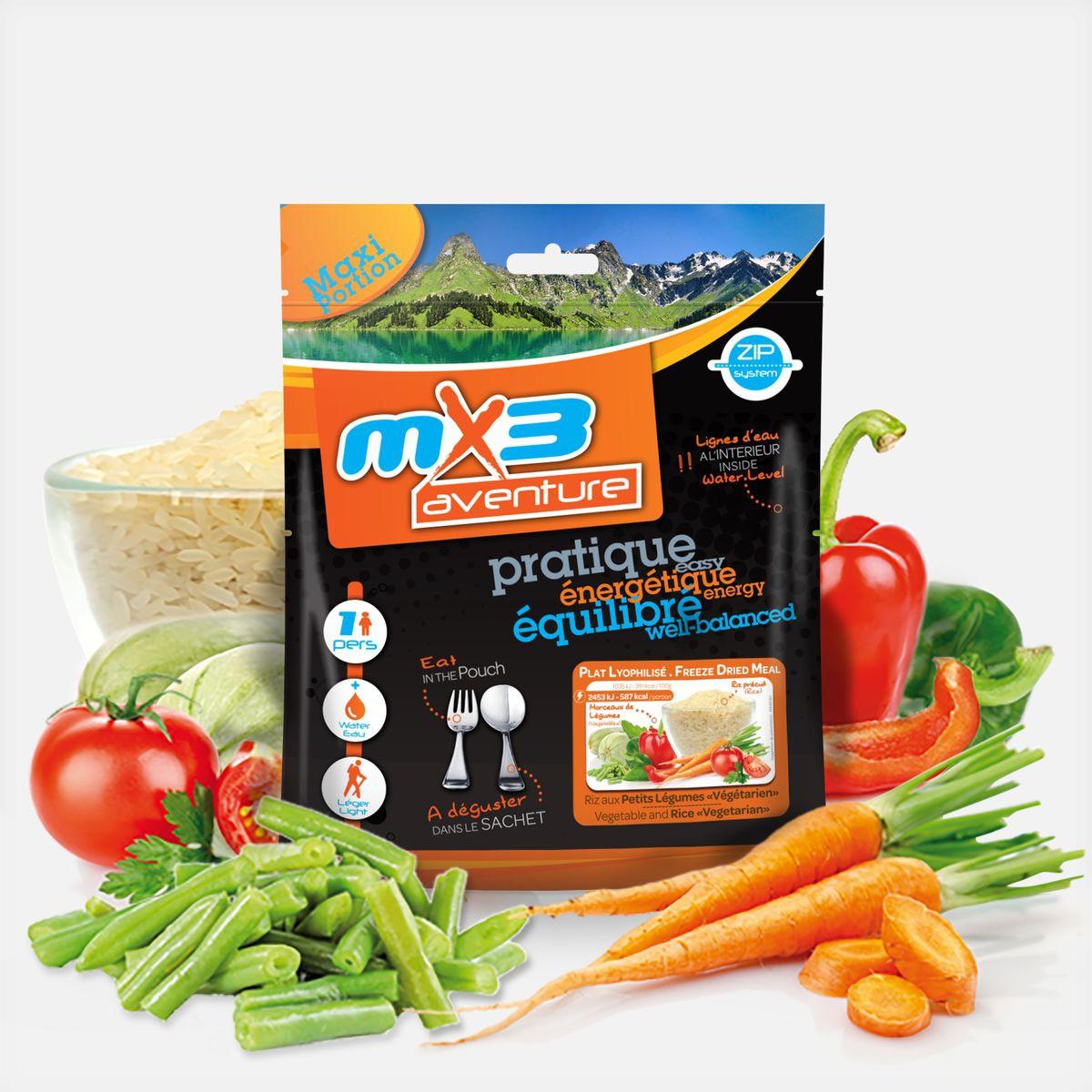 Lyophilisé Riz aux petits légumes végétarien MX3